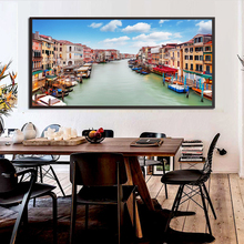View of Famous Europe City Italy Vince Canal HD Print Photo Poster Picture Canvas Print Home Bedroom Livingroom Wall Decoration