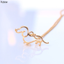 hzew GOLD Silver BLACK GUN rose gold Dachshund Necklace New Cute Little Puppy Dog Pendant Necklace(China)