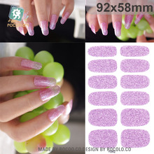 Rocooart Y5041-5060 Adhesive Nail Art Stickers Fashion Pink Nail Foil Sticker Fashion Manicure Glitter Decor Nail Wraps Decal(China)