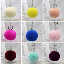 Pendant rabbit hair ball fur ornaments mobile phone bag jewelry fashion key hair ball 8 cm manufacturers wholesale