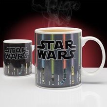 1Piece The Force of Heat Star Wars Lightsaber Heat Changing Mug Light Saber Ceramic Coffee Cup