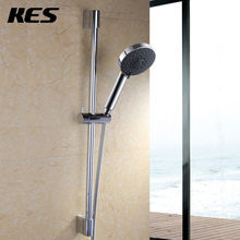 KES Five Function Massaging Hand Shower Head with Adjustable Slide Bar, Polished Chrome/Brushed Nickel(China)