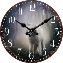 Vintage Antique Wooden Wall Clock Modern Design Large Decorative Animal Wall Clocks Home Decor Oversized Clock Men Rustic