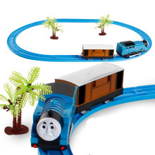 Thomas And Friends Trains Toys Kid Boy Electric Rail Road Set Trackmaster Mini Tomas Model racing Track assembly Christmas gift