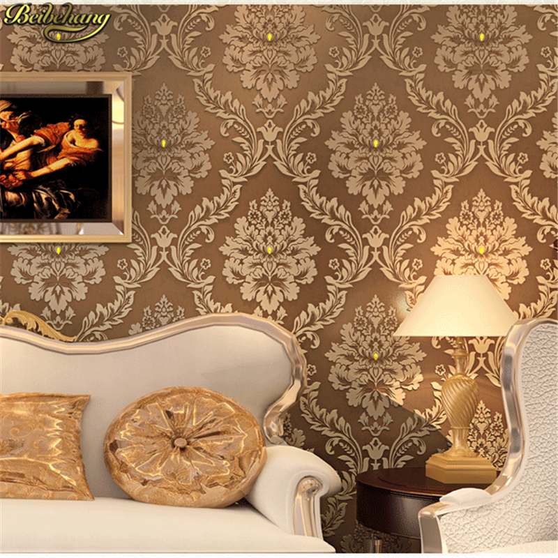 beibehang papel de parede. Luxury diamond embossed bedroom Modern damask wall paper white wallcovering classic 3d wallpape<br>