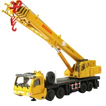 KDW Scale Mega Lifter Crane Construction High Simulation Exquisite Diecasts Vehicle Model Hobbies Classic Mini Car Truck Toys
