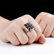 Beier new store 316L Stainless Steel ring top quality  Gothic CrosPunk Cross Finger Ring Gift  fashion Jewelry LLBR8-372R