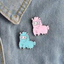 Shuangshuo Cartoon Animal Sheep Enamel Pins Icons Collar Brooches for Women Lapel Pin Brooch Jewelry Clothing Bag Accessories(China)