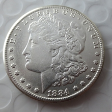 90% silver Date1884-S Morgan Dollars copy coins -High Quality(China)