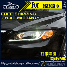Car Styling Head Lamp for Mazda 6 Headlights 2004-2013 Mazda6 LED Headlight DRL Daytime Running Light Bi-Xenon HID Accessories