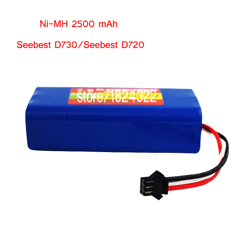 Ni-MH 2500 mAh Original Battery replacement for Seebest D730 Seebest D720 robot Vacuum Cleaner Parts<br>