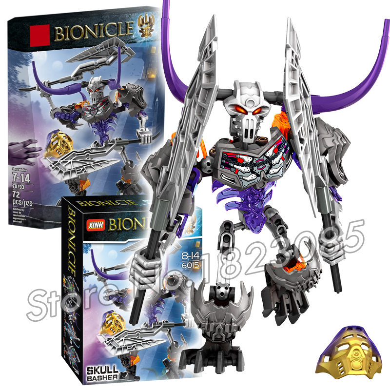 72pcs Bela Bionicle Hero Tahu Skull Basher Model Building Blocks Boys Kids Bricks Toys Compatible With Lego<br><br>Aliexpress