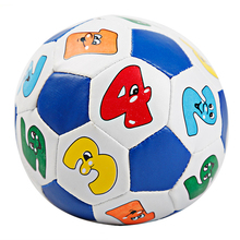 2pcs 12.5cm Large Football Toy Balls  for Children Soft Football Soccer Ball Learning Digital Toys Bouncing Random Color
