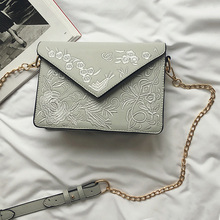 floral embroidered envelope bag France luxury brand messenger bags ladies handbags women leather bags chain crossbody bag vogue