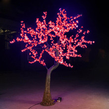 free shipping 2pcs 220v 1.8m 1152leds 69W outdoor christmas led tree light  and 220pcs big white  cherry flowers