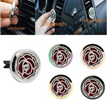 (Ship from US) Warehouse New Stainless Car Air Auto Vent Freshener Car Outlet Perfume Essential Oil Diffuser Gift Locket Decor(China)