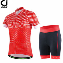 Buy CHEJI Bicycle Team Outdoor Sportwear Cycling Jersey Sets Women Sports Girls Cycling Clothing Set Bike wear Clothing for $31.32 in AliExpress store