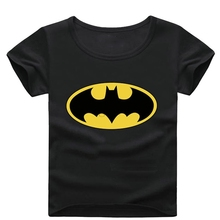 Batman Short Sleeve T Shirt Boys Clothes Spring Summer Boys kids Girls New Baby Shirt Children Clothing(China)