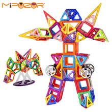 MIPOZOR 180Pcs Magnetic Designer Model Building Kits 3D Blocks Kids Educational Toys Transformers Series DIY Robot Gundam bricks