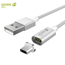 WSKEN lite2 micro USB magnetic charge cable fast charging Xiaomi redmi note5 5a 4x 5 Samsung galaxy S6 S7 edge USB cable
