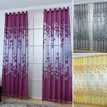Multi-Styles Sheer Voile Curtains Beads Door Window Curtains Drape Panel Or Scarf Assorted Scarf Newest