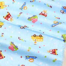 15121147,Free shipping 50cm*150cm cartoon Series Many car colors cotton fabric,diy handmade patchwork cotton cloth home textile(China)