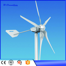 High Efficiency 600W 24V wind turbine generator for yachts with 5 blades, low start wind speed, Hot Sale !!!