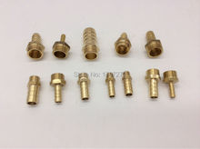 "free shipping copper fitting 12mm Hose Barb x 1/4"" inch male BSP Brass Barbed Fitting Coupler Connector Adapter"