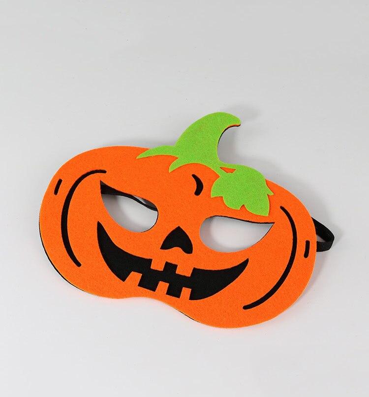 Skull Skeleton /& Pumpkin Cute Felt Halloween Trick or Treat Eye Masks for Kids