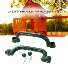 2 Pcs Children Swing Set Stuff 10 Inch Nonslip Hand Grips Outdoor Plastic Handgrip Set Kids Safety Grab Handles Plastic Handle(China)