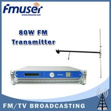 Free shipping FMUSER FSN-801 80W 2U FM Broadcast Radio Transmitter 87.5-108 MHz+1/2 Wave Dipole Antenna +15m SYV-50-5 Cable