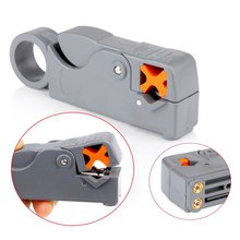 Multifunction Rotary Coax Coaxial Cable Cutter Tool RG58 RG59 RG6 High Impact Material Wire Stripper Household Tool
