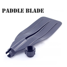 oar paddle blade XP0103 paddle leaf for inflatable boat, paddle board, kayak, canoe. black color, ABS material