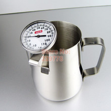 Stainless steel milk frother thermometer coffee tools with holder caffe latte