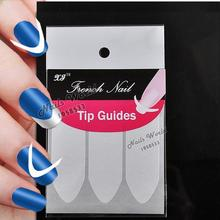 2 Packs White French Nails Art Tips Tape Manicure Sticker Guide Stencil Charming DIY W13