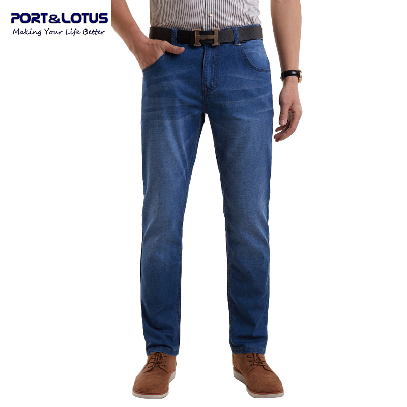 Port&amp;Lotus Fashion Casual Jeans New Arrival With Zipper Fly Solid Color Lightweight Straight  Pants Jeans Men 058 wholesaleОдежда и ак�е��уары<br><br><br>Aliexpress