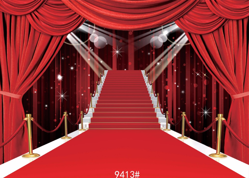 SJOLOON Red carpet for the stage  backdrop Backgrounds for photo studio 10x10ft  Fond studio photo vinyle  3X3m <br><br>Aliexpress
