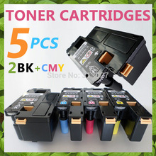 5x Toner Cartridges For Dell 1250 1250c 1350cnw 1355cn 1355cnw Color Laser Printer toner, 2BK+CMY with Chip(China)