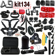 Buy A9 GoPro Hero 5 Accessories Set Go Pro Hero 5 4 3 Kit GoPro Mount SJCAM SJ4000 xiaomi yi camera eken h9 tripod for $32.69 in AliExpress store