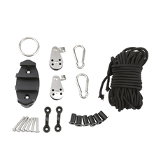 Adjustable Pad Eye Kayak Anchor Trolley Kit With Well Nuts with Stainless Steel Screws for Canoe Boat Carabiners Rope Accessoy