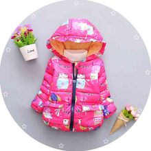 BibiCola children outerwear cotton winter Hooded coat Winter Jacket Kids Coat children's winter Girls clothing set Down & Parkas