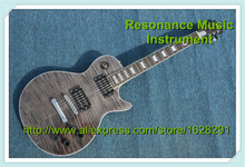 100% Real Pictures China LP Standard Electric Guitar Transparent Grey In Stock