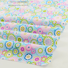 Printed floral patterns 50cmx160cm/piece cotton fabric tilda tecido quilting fabrics for DIY patchwork baby bedding clothing(China)