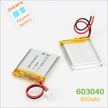 3.7V 800mAh 603040 Lithium Polymer Battery For GPS navigator Mp3 Mp4 Mp5 PAD DVD E-book speaker universal rechargeable battery