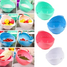 3 in 1 Clamshell Rice Fruit Vegetable Wash Strainer Sieve Kitchen Tool Fruit / Vegetable Bowl