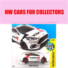 New Arrivals 2017 Hot Wheels 1:64 White Ford Focus RS Metal Diecast Cars Collection Kids Toys Vehicle For Children Juguetes(China)