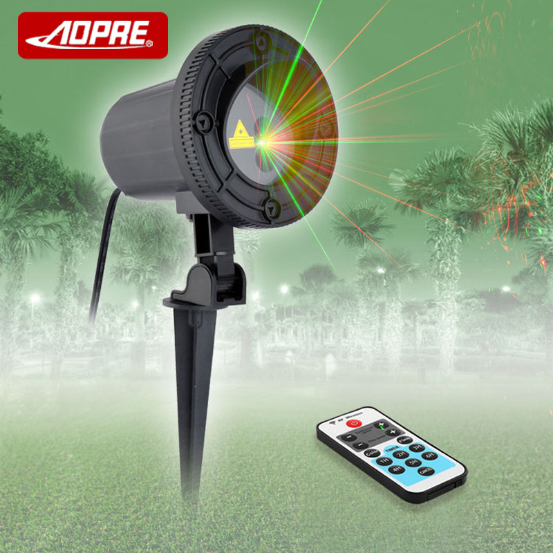 AOPRE Mini Waterproof Laser Light Stage Lighting Effect 12V 5W Laser Lawn Lamp Projector For Disco Party Pubs Home ODF-20RG(China)