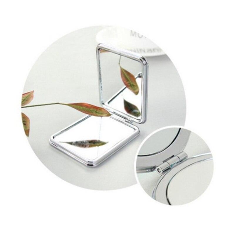 1 Stück Neue Mini Tasche Kosmetik Spiegel Fashion Square Make-up Spiegel Kompakte Schönheit Doppelseitige Spiegel Lupe Spiegel Spiegel Schminkspiegel