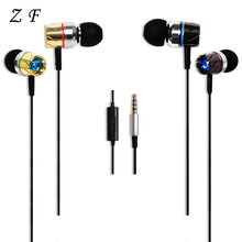 Bass Stereo Drive-by-wire in-ear Earphone 3.5mm Turbine Design For Ipad Phone Xiaomi Music With Switch Song and Mic