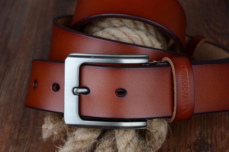 حزام COWATHER جلد طبيعي للرجال 33